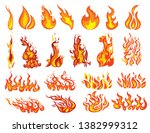 set of fires. collection of... | Shutterstock .eps vector #1382999312