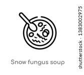 outline snow fungus soup vector ... | Shutterstock .eps vector #1383002975