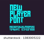 new player font. gothic stylish ... | Shutterstock .eps vector #1383005222