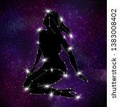 background of the star sky.... | Shutterstock . vector #1383008402