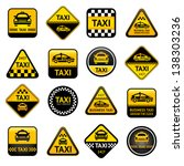 Taxi set buttons, vector illustration 10eps