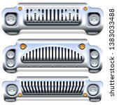 vector car front end isolated...   Shutterstock .eps vector #1383033488
