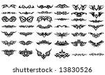 vector tribal tattoos | Shutterstock .eps vector #13830526