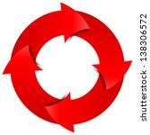 red arrows circle   Shutterstock . vector #138306572