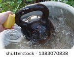 close up of a male hand washing ... | Shutterstock . vector #1383070838