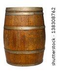 Oak Barrel On A White Background