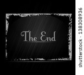 the end. film finish background.... | Shutterstock .eps vector #138308936