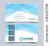 business card set. modern... | Shutterstock .eps vector #1383107348