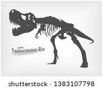 tyrannosaurus rex skeleton... | Shutterstock .eps vector #1383107798
