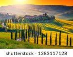 tuscany  italy   may 25  2018 ... | Shutterstock . vector #1383117128