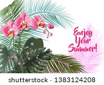 templates for vacation... | Shutterstock .eps vector #1383124208
