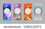 covers templates set with... | Shutterstock .eps vector #1383125372