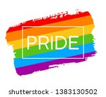 hand draw lgbt pride flag in...   Shutterstock .eps vector #1383130502