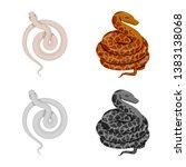 vector illustration of mammal... | Shutterstock .eps vector #1383138068