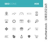 seo icons set  08   part of a... | Shutterstock .eps vector #1383152165