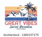california theme vector... | Shutterstock .eps vector #1383157175