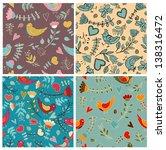 cute pattern flower seamless | Shutterstock .eps vector #138316472