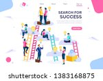 joint idea search community...   Shutterstock . vector #1383168875
