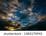 storm front moving across sky... | Shutterstock . vector #1383170942