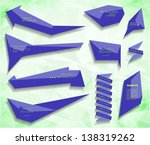vector blue bubble and sticker. ...   Shutterstock .eps vector #138319262