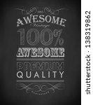 retro chalk awesome  premium... | Shutterstock .eps vector #138319862