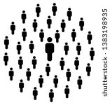 people pattern   group of... | Shutterstock .eps vector #1383198935