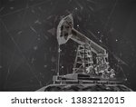 oil derrick. vector 3d object.... | Shutterstock .eps vector #1383212015