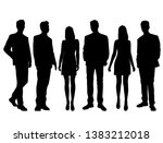 set of vector silhouettes of ... | Shutterstock .eps vector #1383212018
