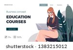 landing page template for... | Shutterstock .eps vector #1383215012