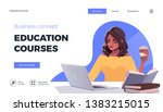 landing page template for... | Shutterstock .eps vector #1383215015
