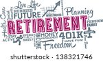 Retirement Planning Word and Icon Cloud