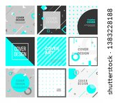 memphis style covers set for... | Shutterstock .eps vector #1383228188