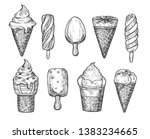 vector illustration of ice... | Shutterstock .eps vector #1383234665