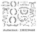 vector illustration of romantic ... | Shutterstock .eps vector #1383234668