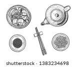 vector illustration of chinese... | Shutterstock .eps vector #1383234698
