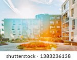 complex of modern apartment... | Shutterstock . vector #1383236138