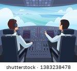 airplane cockpit. pilots...