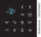 energy icons set. match and... | Shutterstock . vector #1383243665