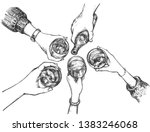 vector illustration of party... | Shutterstock .eps vector #1383246068