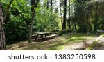 Benches And Wooden Table For...