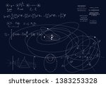 formulas of classical mechanics ... | Shutterstock .eps vector #1383253328