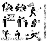 man people outdoor activity... | Shutterstock .eps vector #138325928