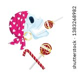 Pirate Skull With Lollipop...