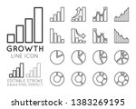 business growth charts  set of...
