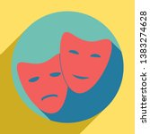theater icon with happy and sad ... | Shutterstock .eps vector #1383274628