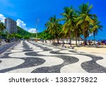 view of leme beach and... | Shutterstock . vector #1383275822