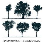 tree silhouettes   pau brasil... | Shutterstock . vector #1383279602