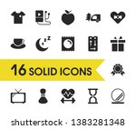 healthy icons set with exercise ...