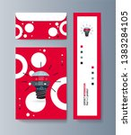 set of brochures for marketing... | Shutterstock .eps vector #1383284105
