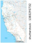 map of california state  ... | Shutterstock .eps vector #1383293732